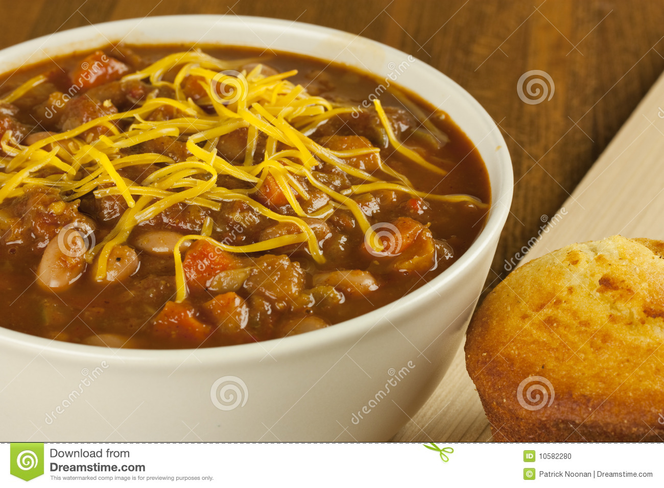 Bowl Of Chili Clip Art Bowl of chili with cornbread