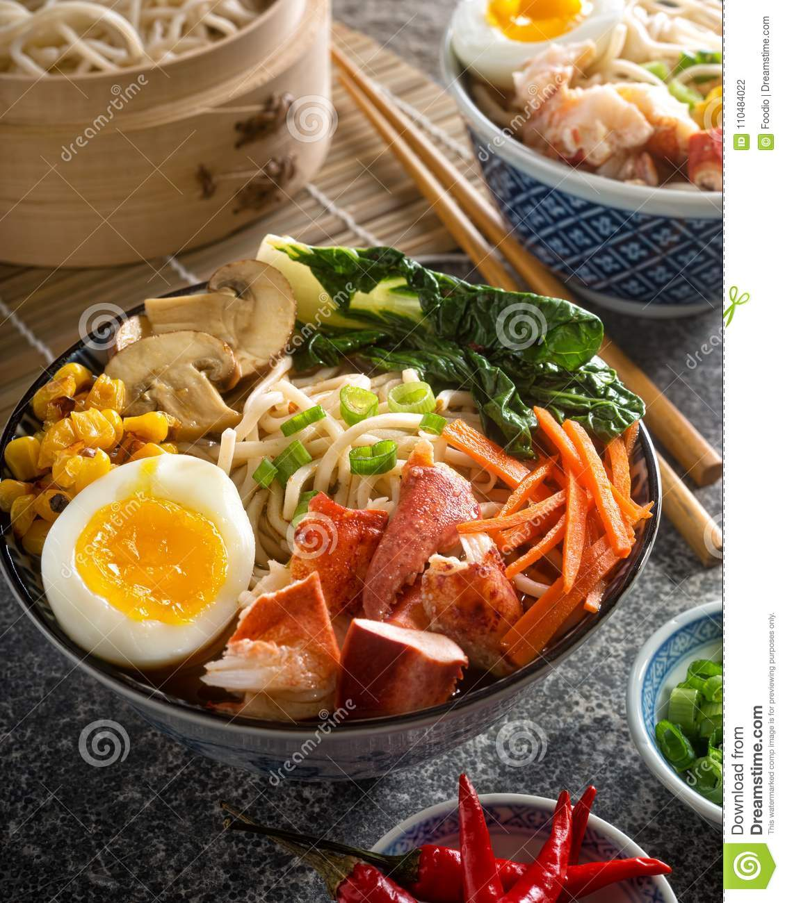 Spicy Noodle Lobster Bowl