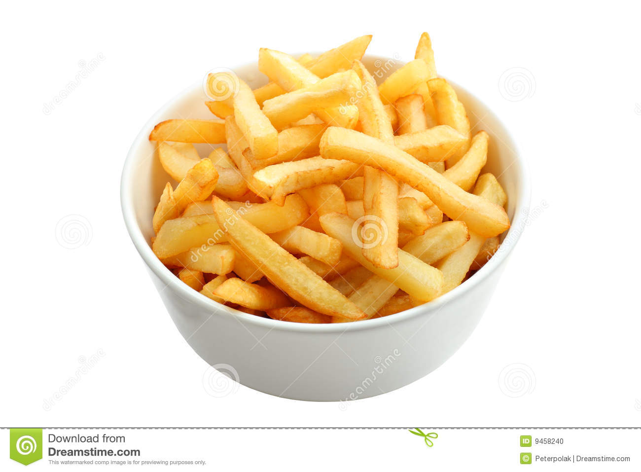 White wooden table background - Full Of French Fries Isolated On White Stock Photo Image 9458240