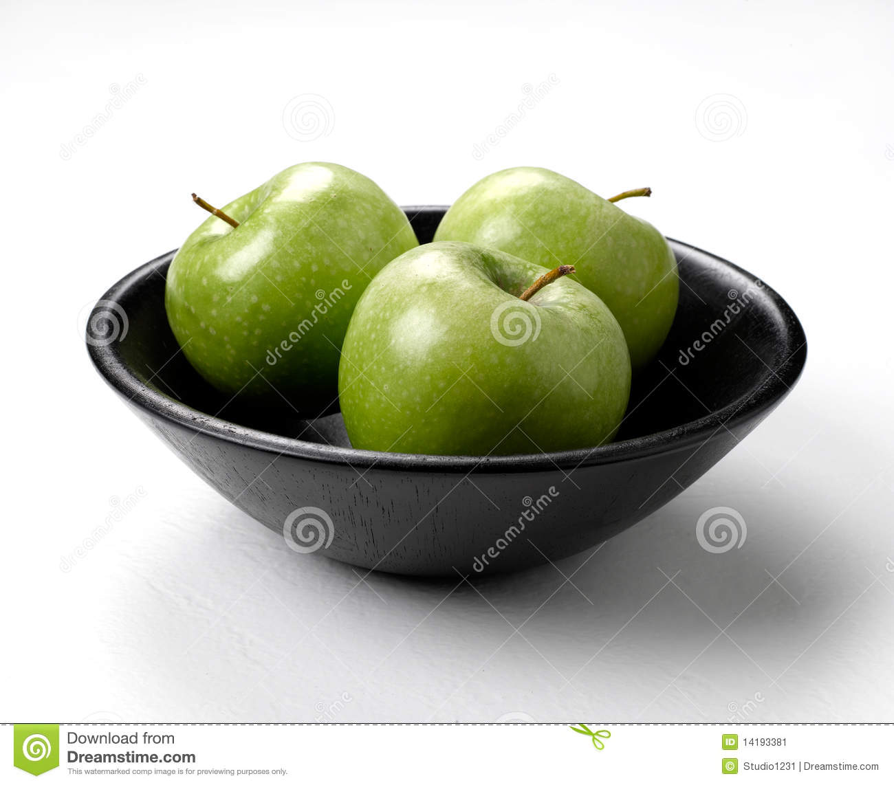 Bowl Of Green Apples Stock Image - Image: 14193381