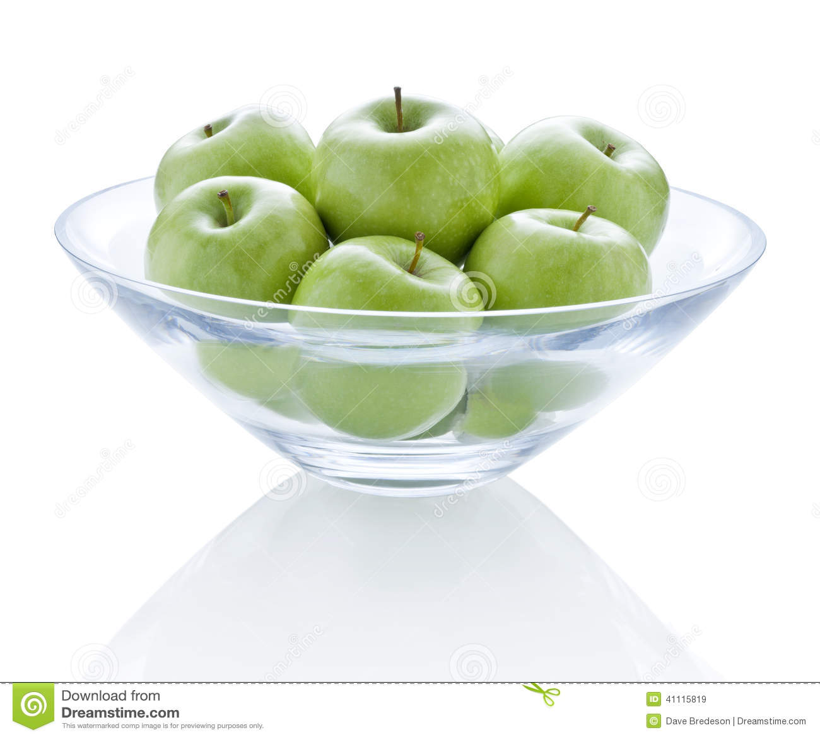 Bowl Green Apples Stock Photo - Image: 41115819