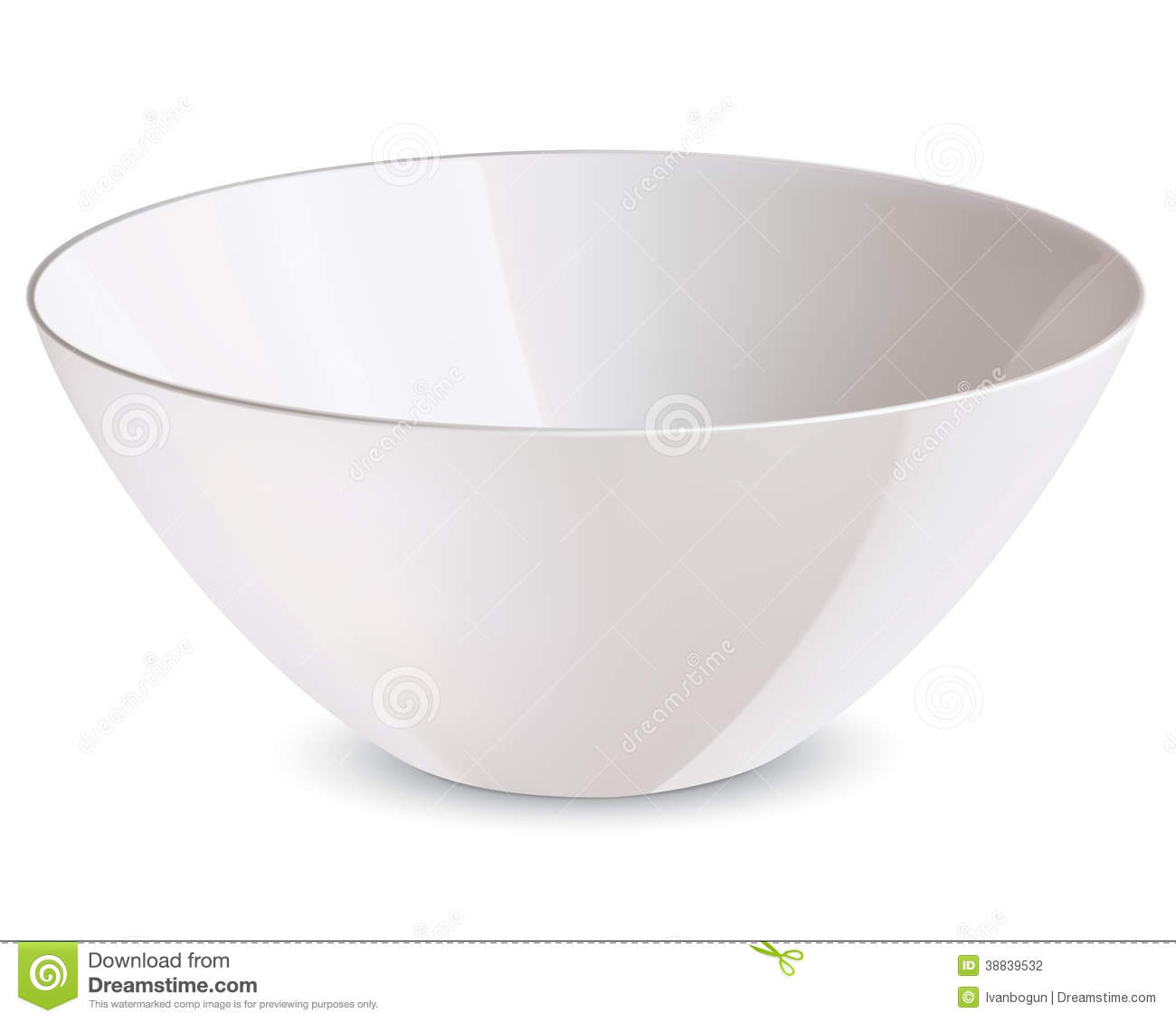 Bowl Isolated. Vector Illustration Stock Vector
