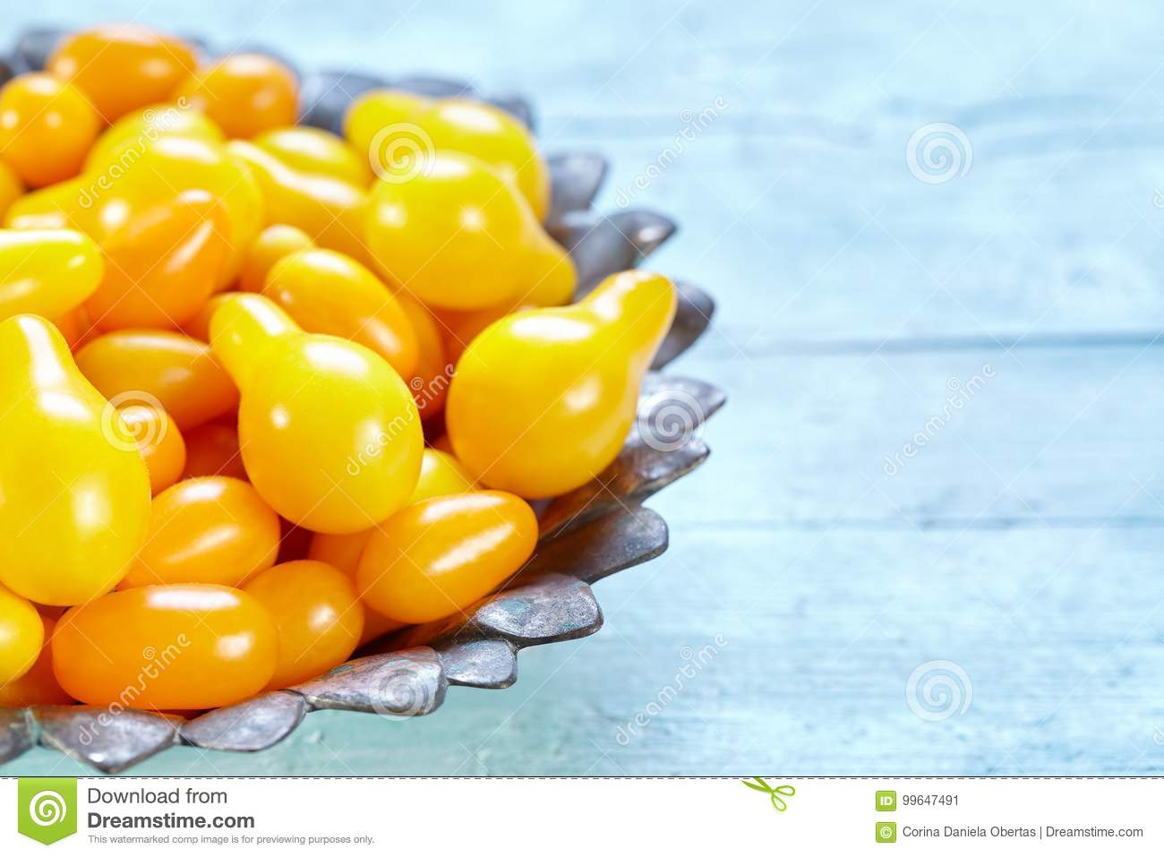Yellow Pear And Datterino Heirloom Cherry Tomatoes