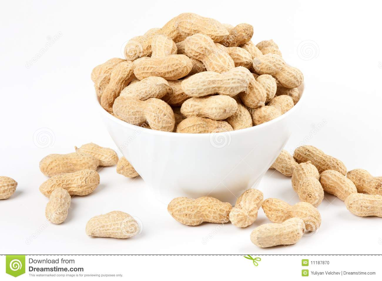 Bowl With Peanuts 4 Stock Photo Image 11187870