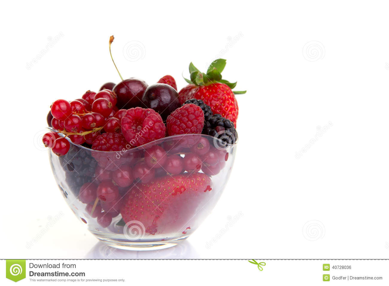 bowl of red summer fruits or berries stock photo image 40728036