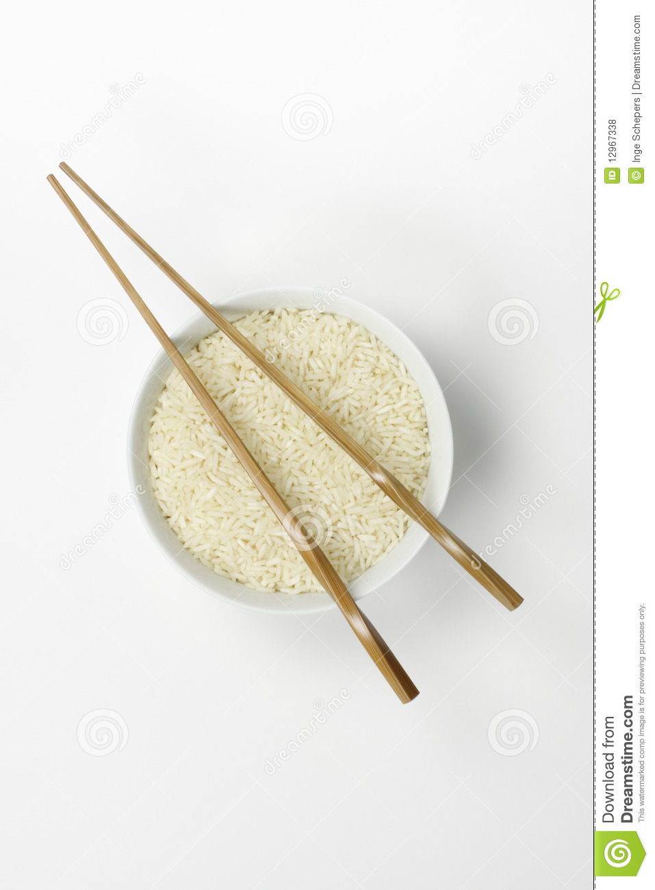 Bowl Of Rice With Chopsticks Royalty Free Stock Photos ...