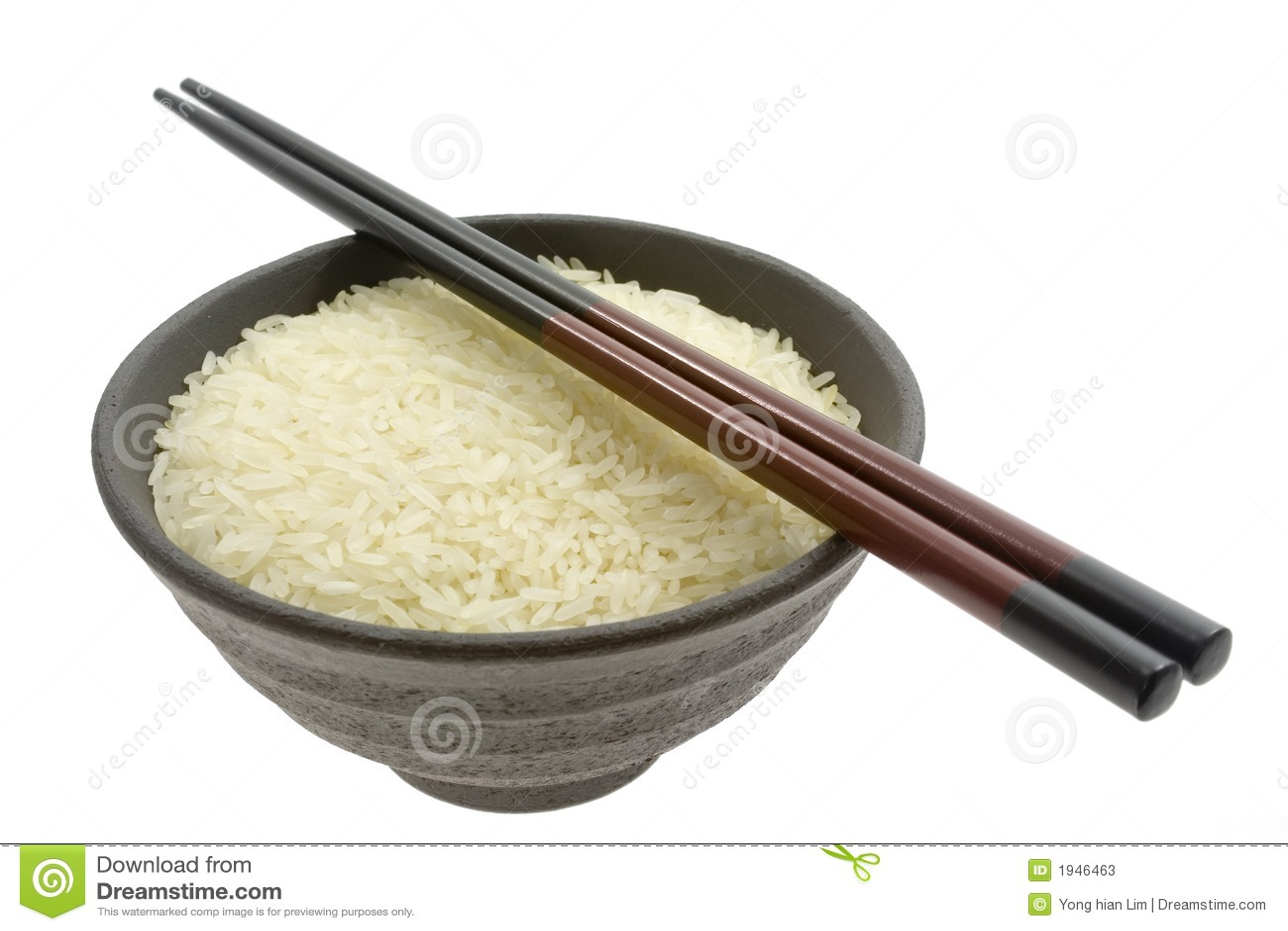 Bowl Of Rice With Chopsticks Stock Photos - Image: 1946463