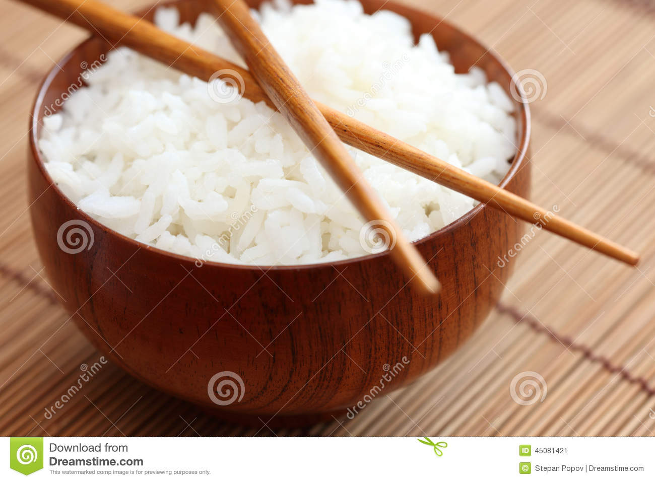 Bowl Of Rice With Chopsticks Stock Image - Image: 45081421