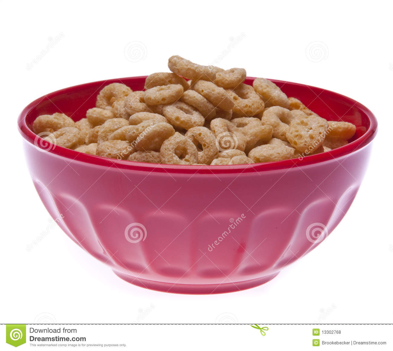 Bowl Of Round Cereal Royalty Free Stock Photos