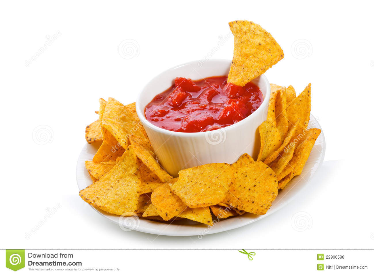 Bowl Of Salsa With Tortilla Chips Royalty Free Stock Photos - Image ...
