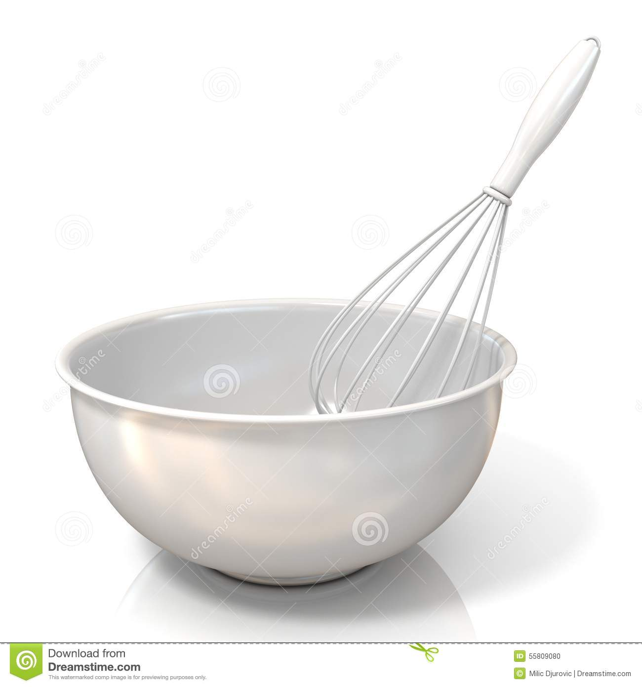 Bowl With A Wire Whisk Stock Illustration - Image: 55809080