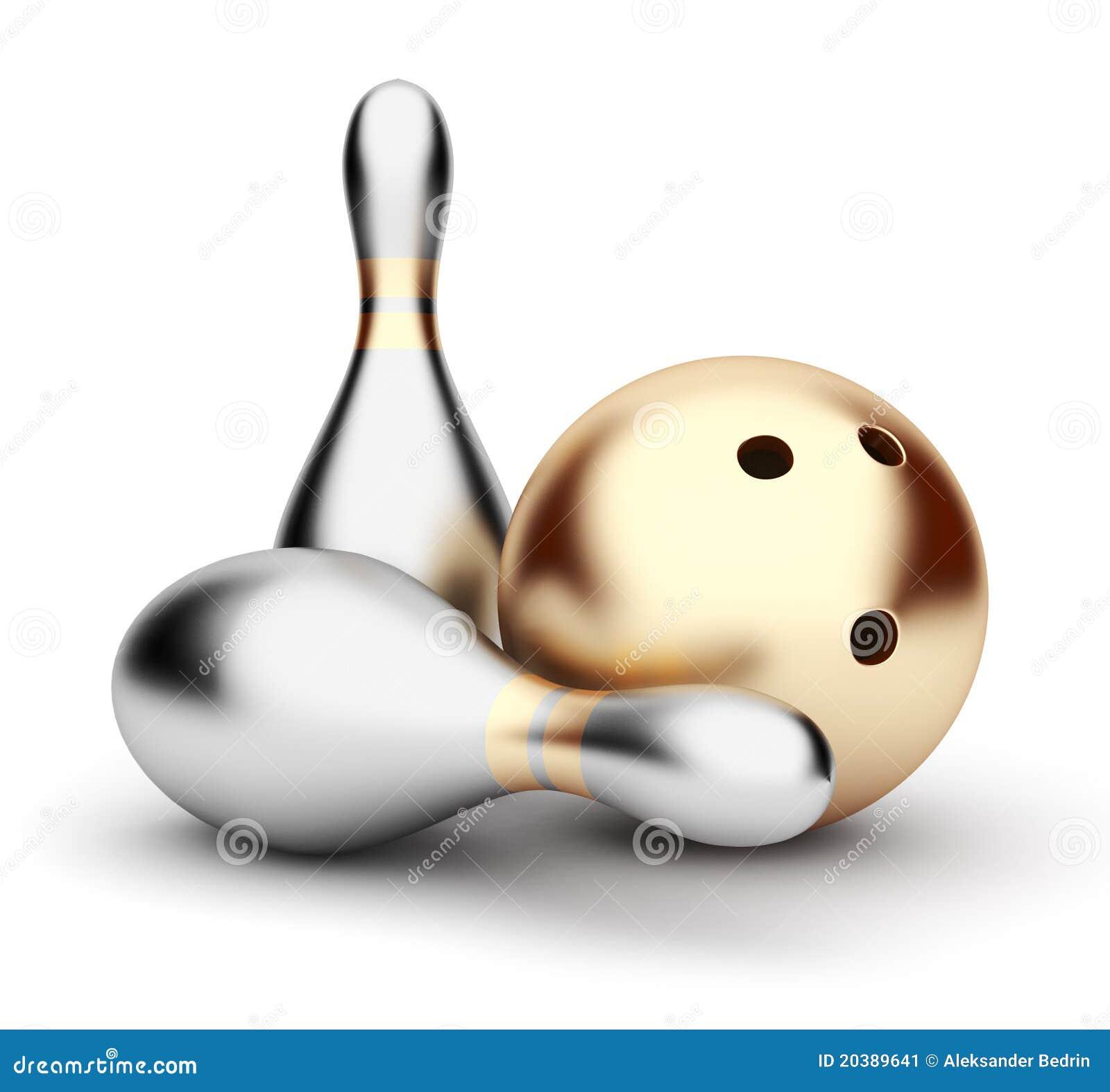 Stock Illustration 3D Bowling