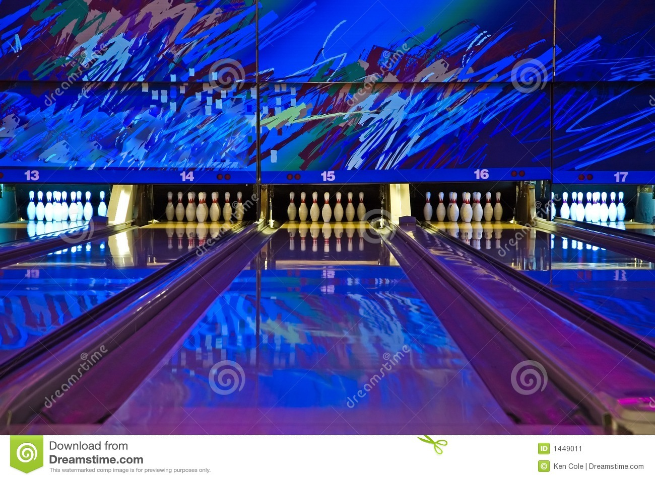 Bowling Alley Stock Image Image Of Alley Sport
