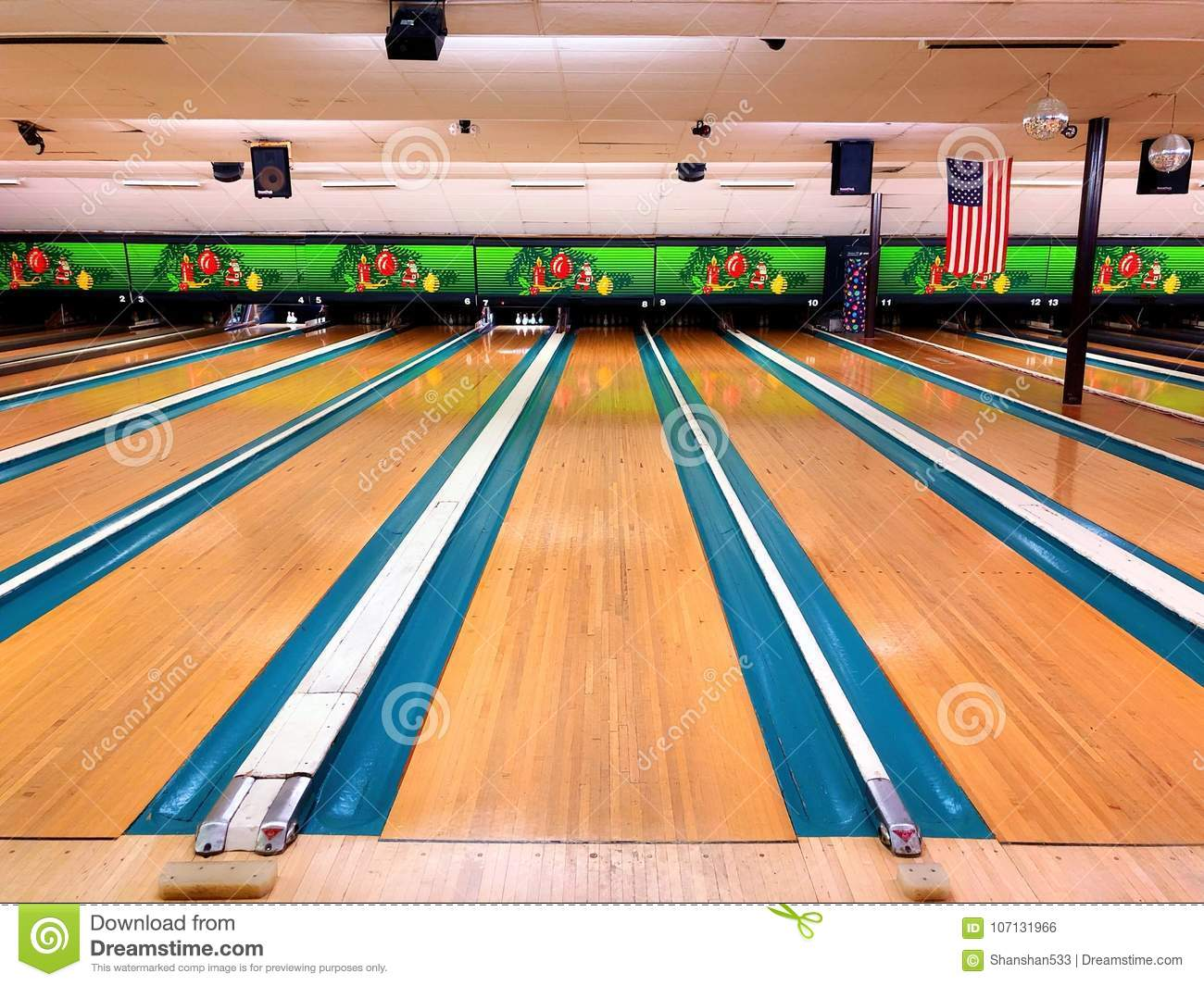 Bowling Alley In United States Stock Photo - Image of bowling