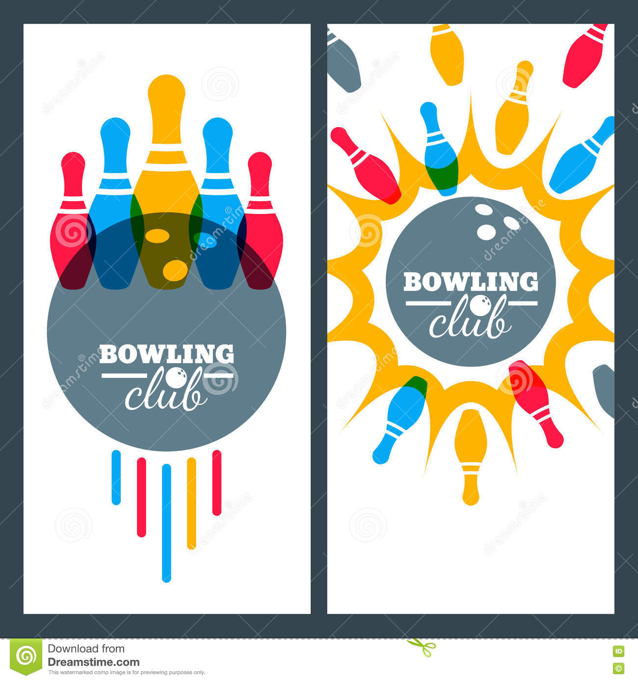 Poster design elements - Bowling Backgrounds And Elements For Banner Poster Flyer Label Design Stock Photography