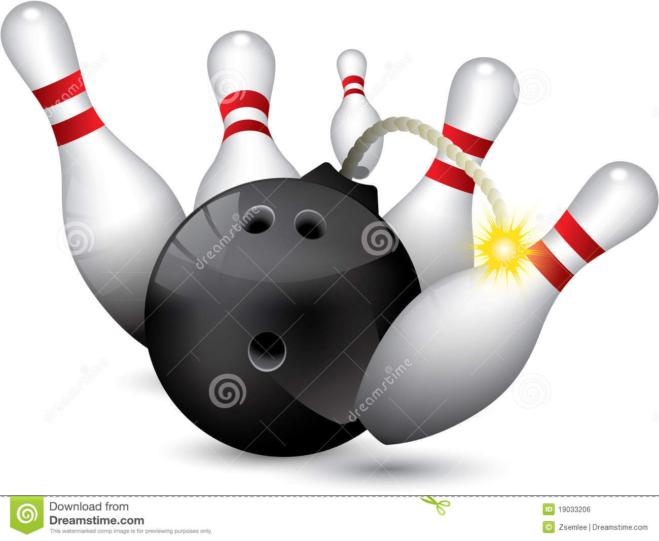 Bowling Ball Bomb Royalty Free Stock Image - Image: 19033206