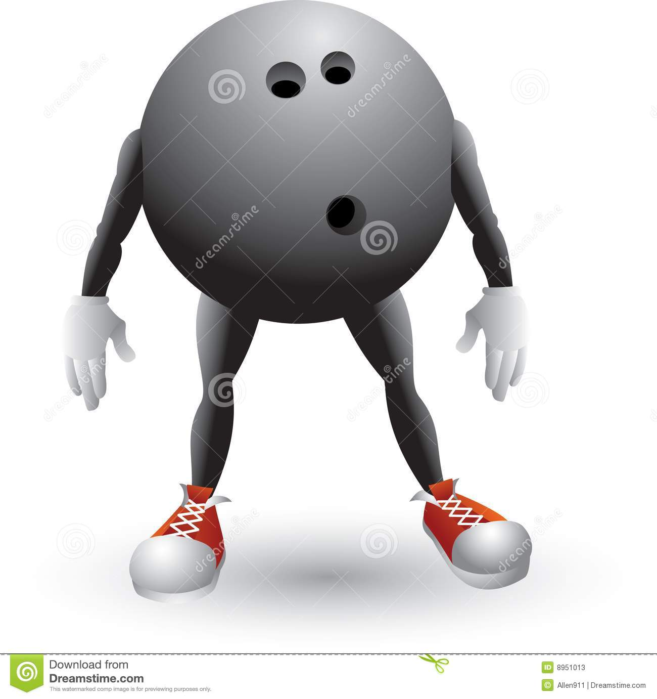 Bowling Ball Cartoon Man Stock Photos - Image: 8951013