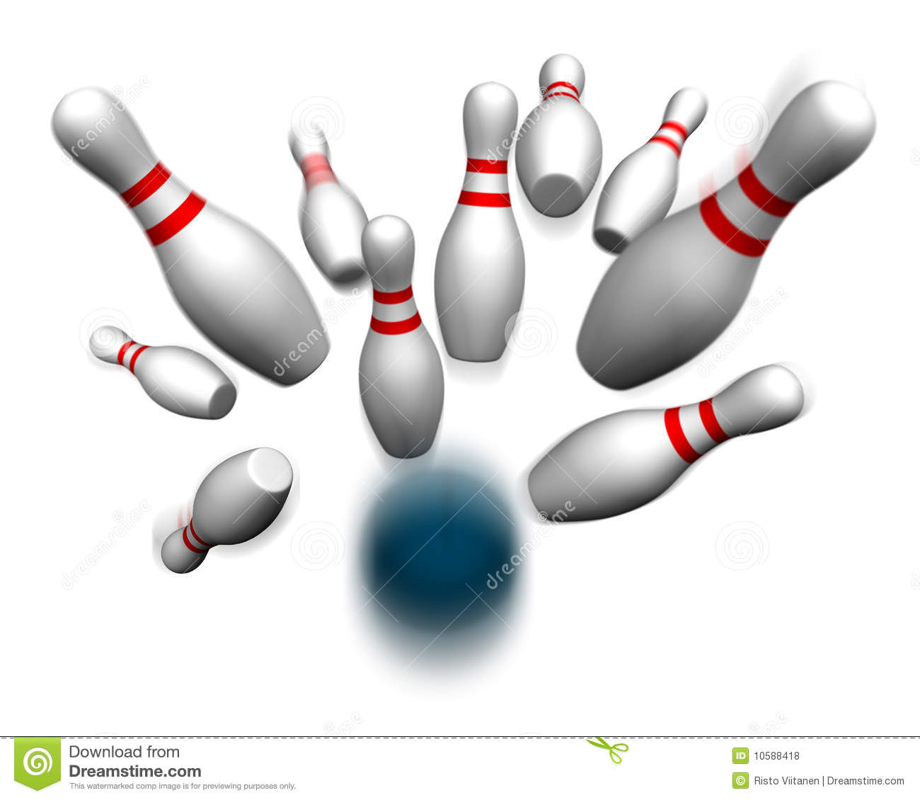 Bowling Ball Hitting Pins Bowling ball hitting pins