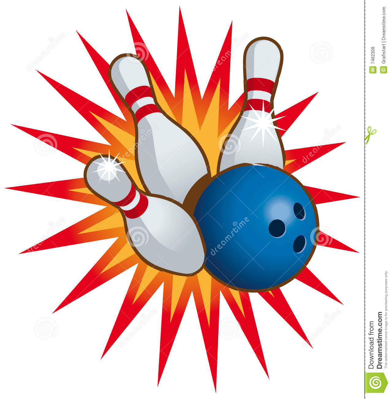 Bowling Ball And Pins Royalty Free Stock Photos - Image: 7462308