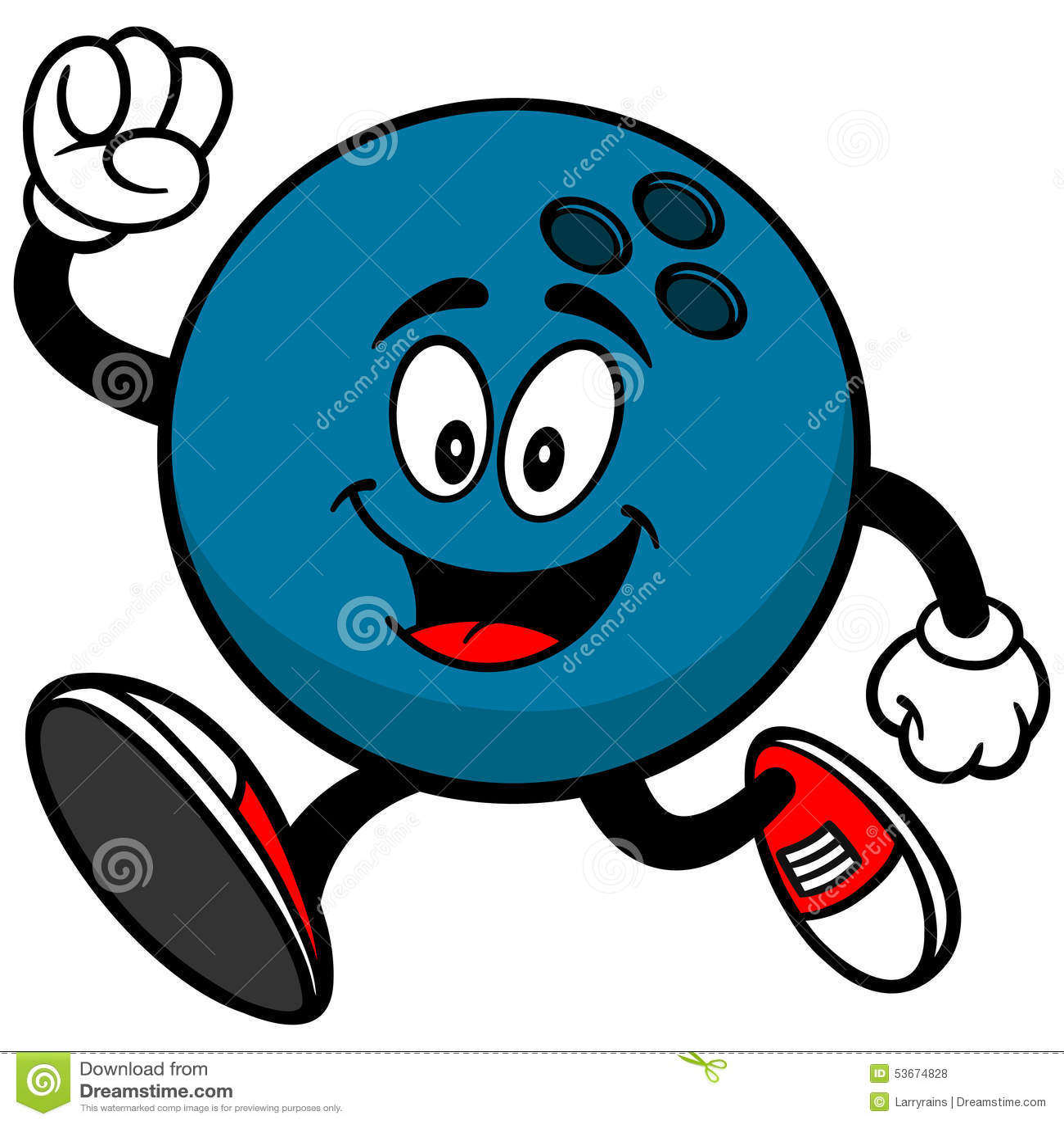 Bowling Ball Running Stock Vector - Image: 53674828