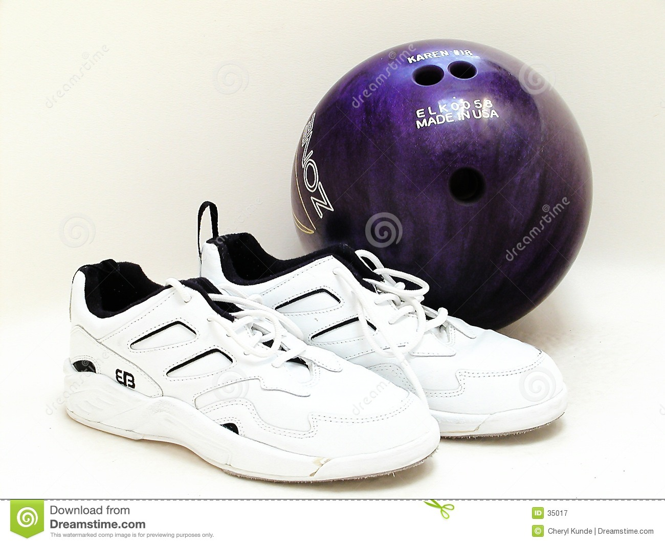 Bowling Ball And Shoes Royalty Free Stock Photography - Image: 35017