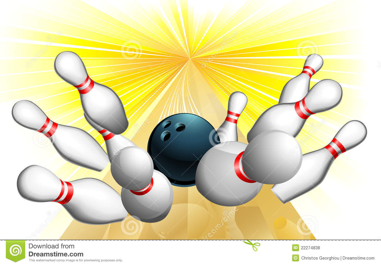 Bowling Ball Strike Royalty Free Stock Photos Image