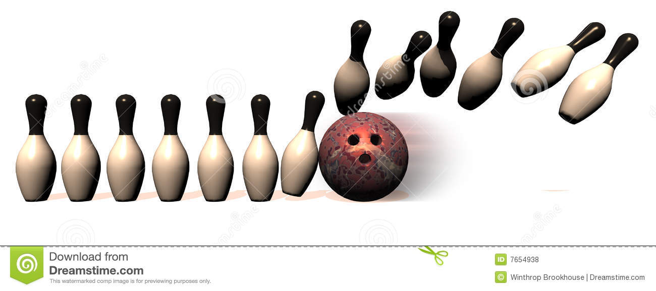 Bowling Border Stock Illustration Illustration Of Bowling