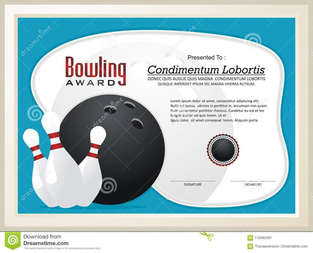 Best Bowling Certificate Template Free Images Free Ten Pin