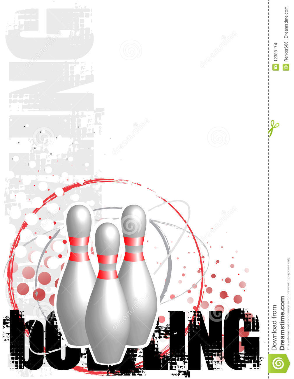 Bowling Circle Poster Background Stock Images - Image: 12388174
