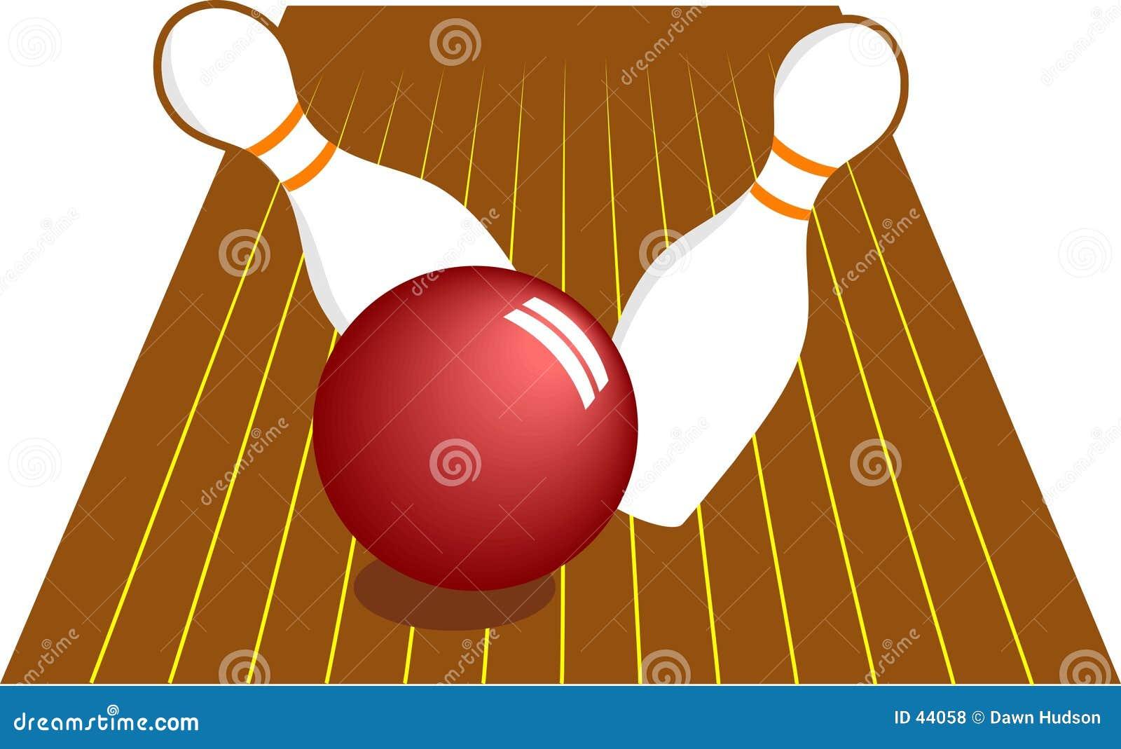 Download Bowling de diez Pin ilustración del vector. Ilustración de golpe - 44058