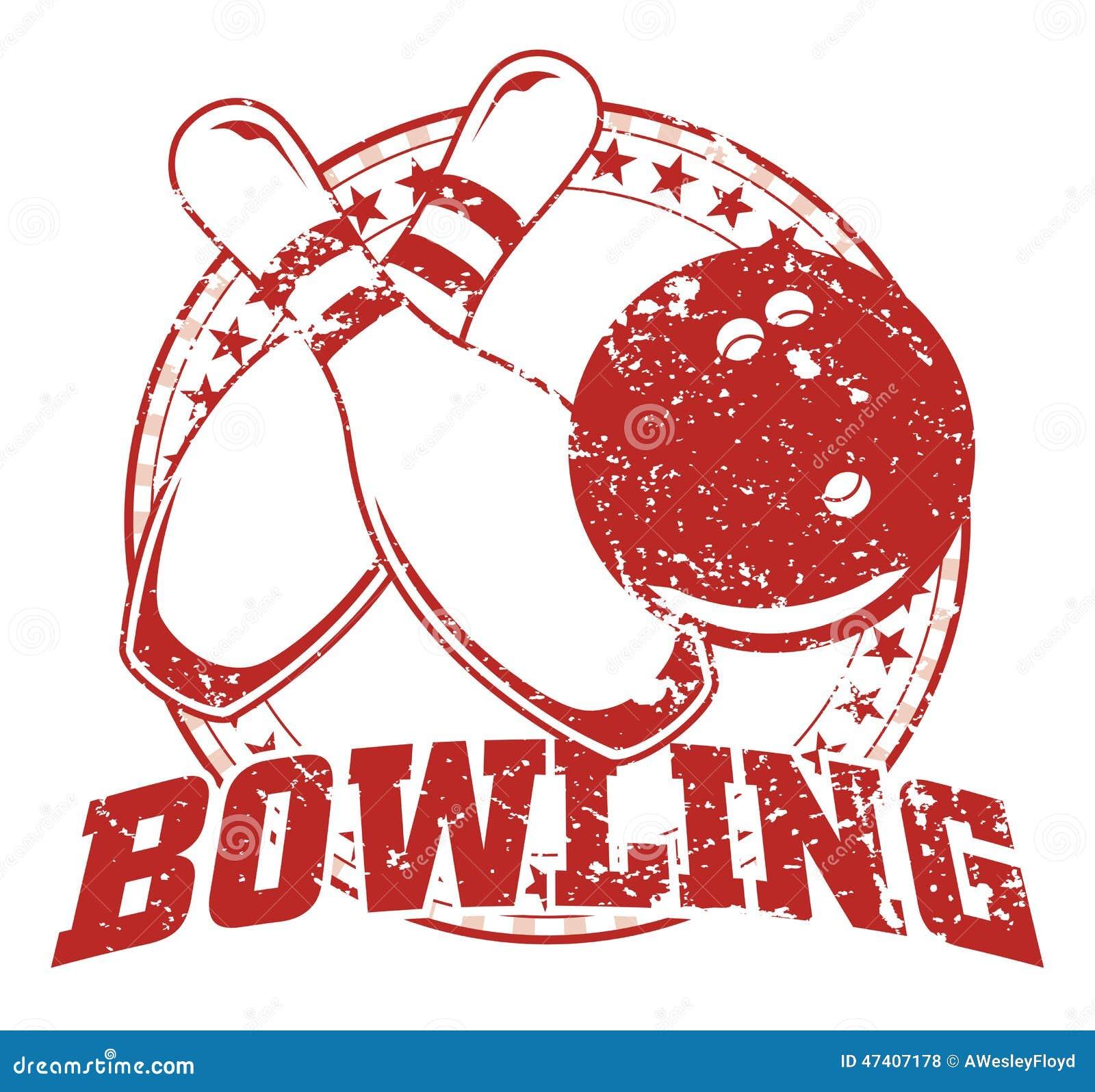 Bowling Design - Vintage Stock Vector - Image: 47407178
