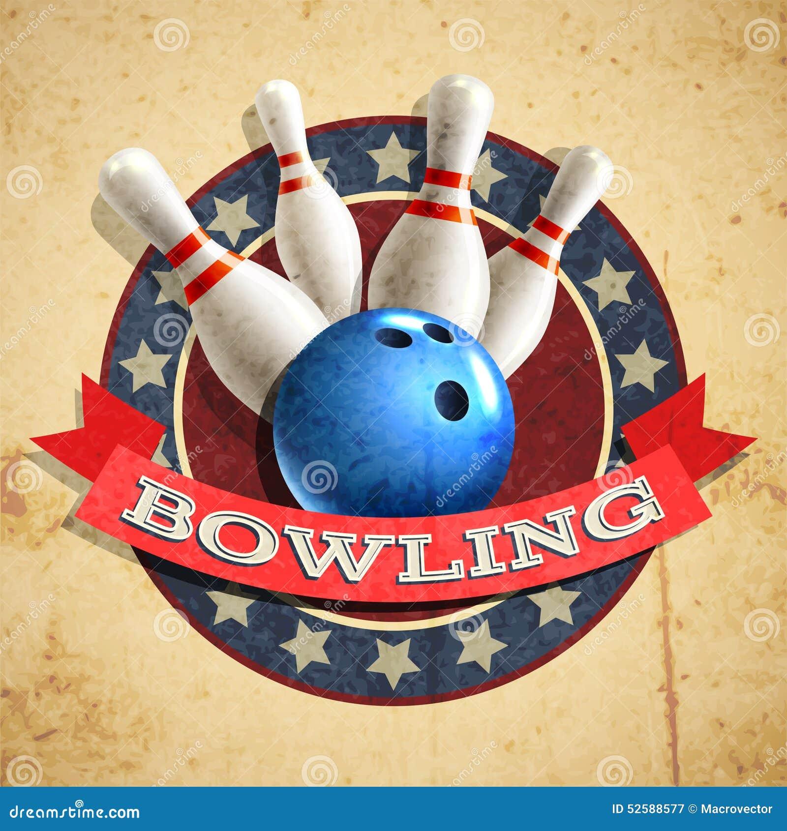 Bowling Emblem Background Stock Vector Image 52588577