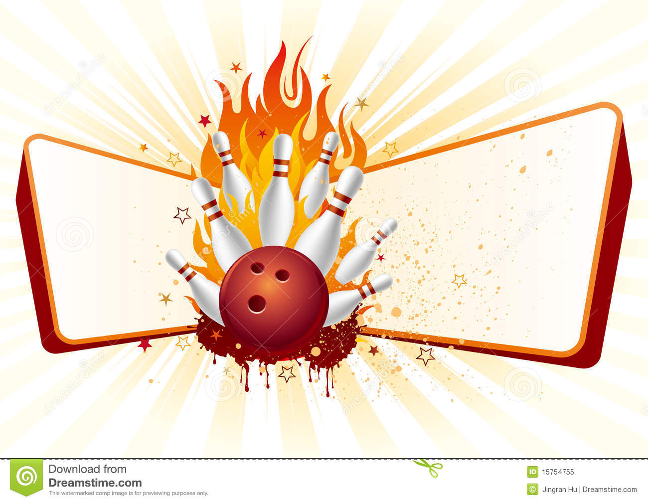 Bowling With Flames Stock Vector Illustration Of Glowing