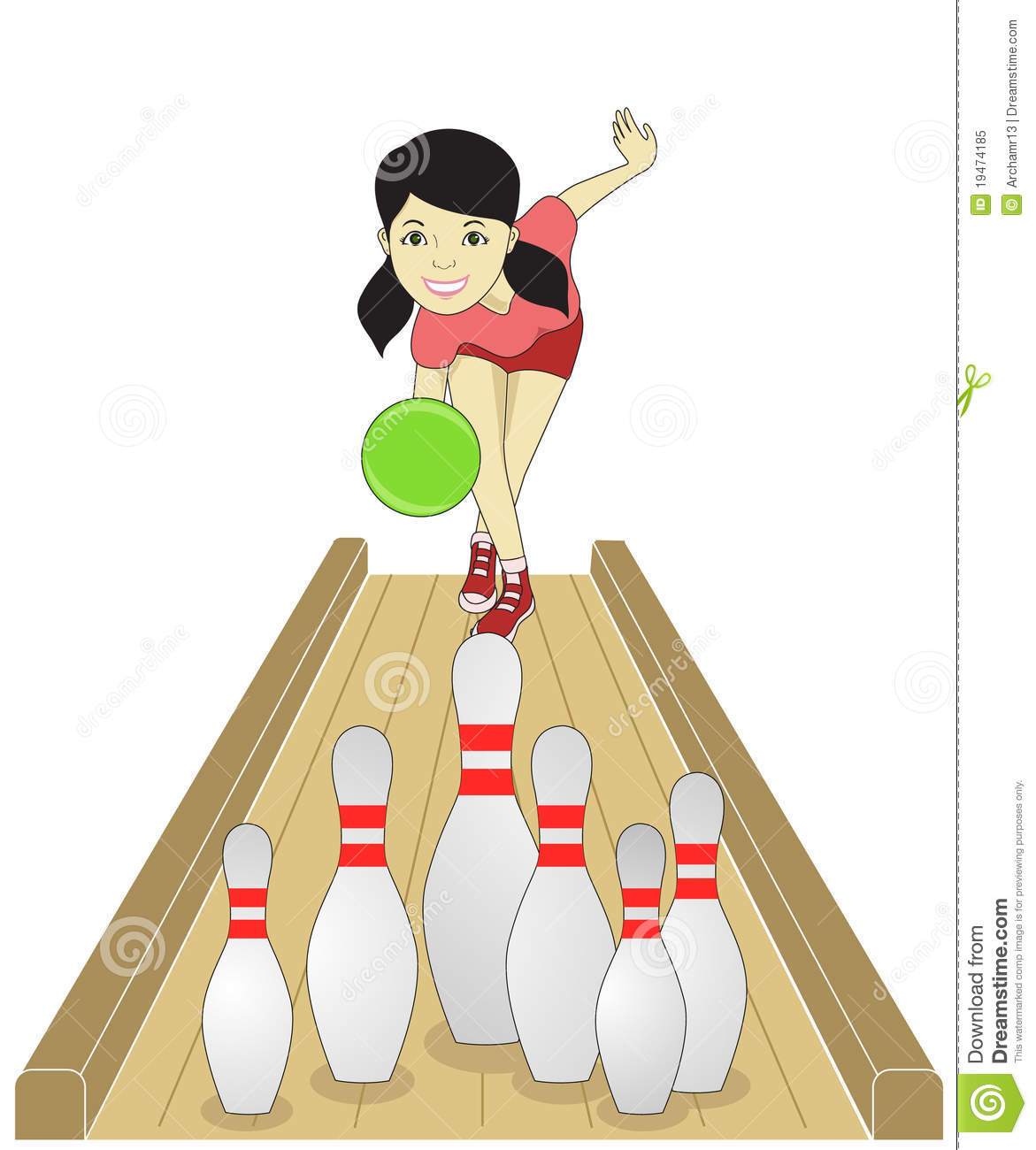 Bowling Girl Royalty Free Stock Photo Image 19474185