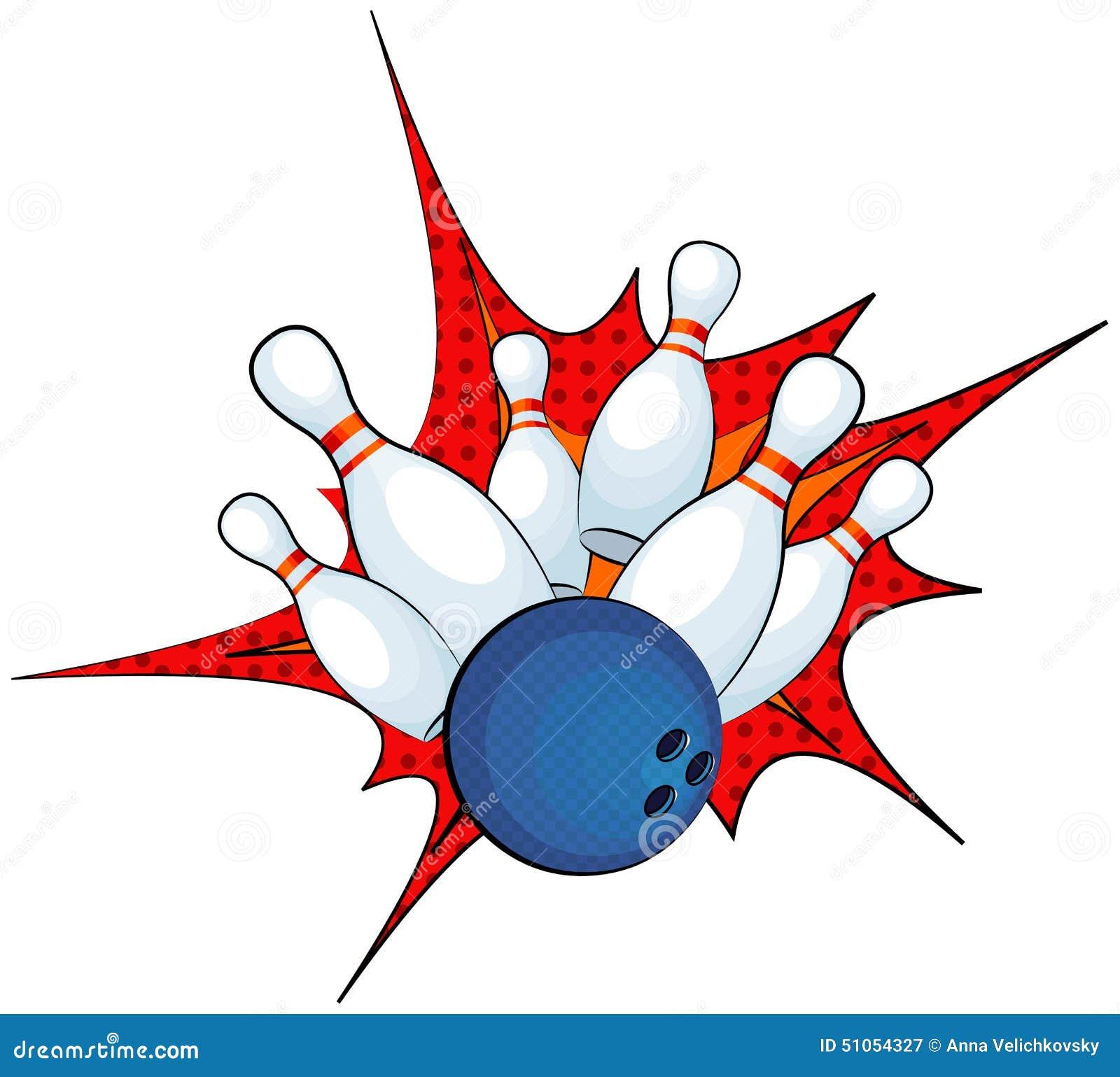 Bowling Stock Vector - Image: 51054327
