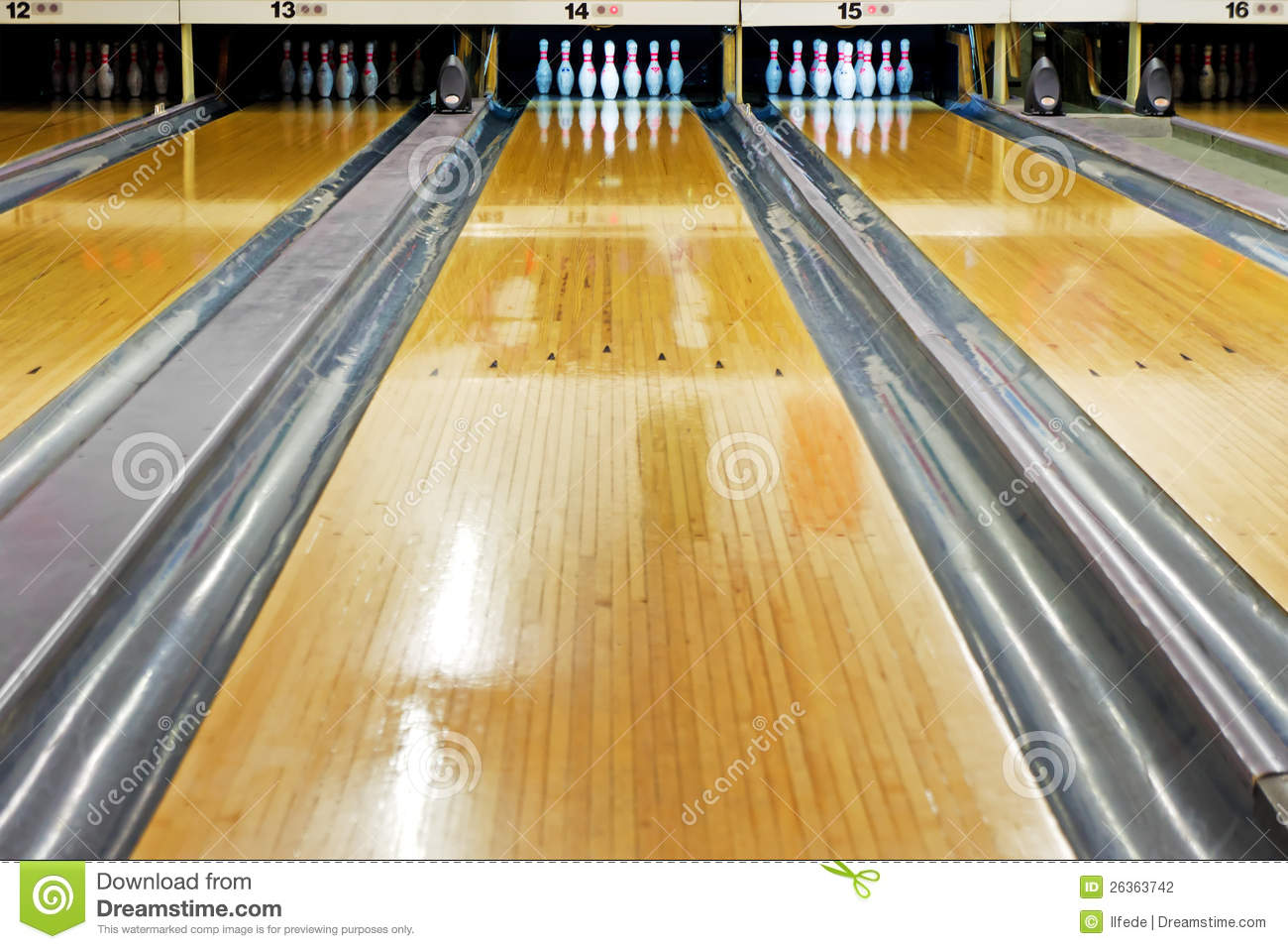 Bowling Lane Stock Photography - Image: 26363742