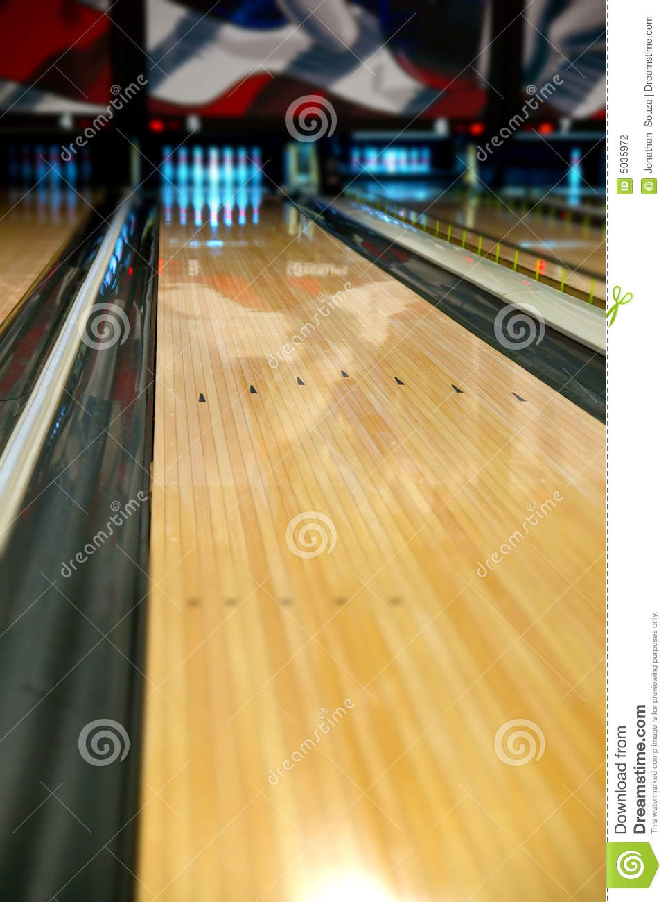 Bowling Lane Arrows Stock Photography Image 5035972