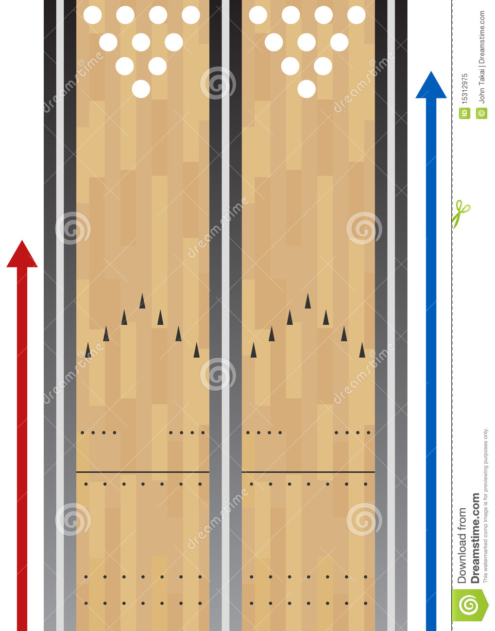 Bowling       Lane    Chart Royalty Free Stock Photo  Image  15312975