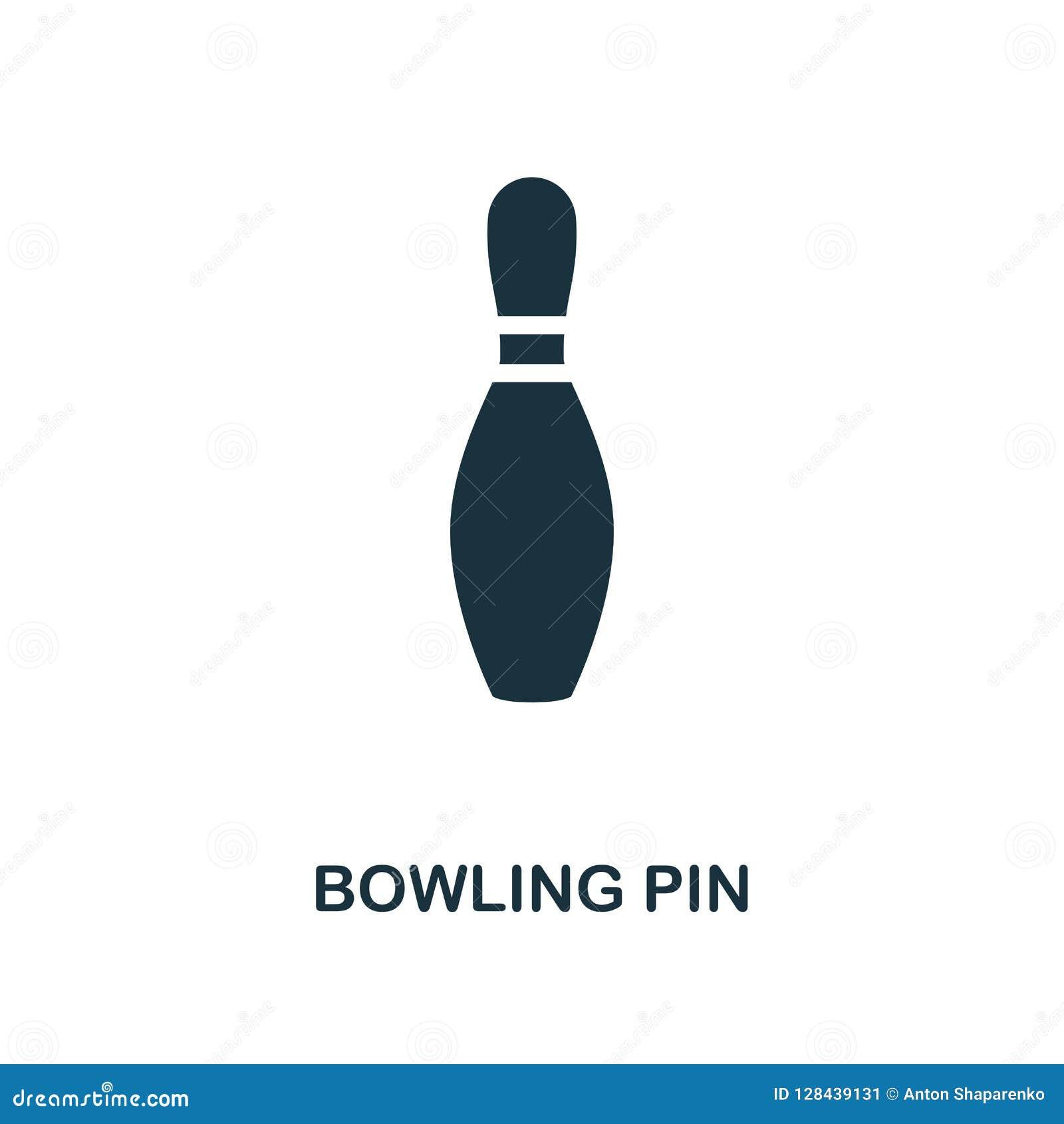 Bowling Pin Icon Conception monochrome de style de la collection de roulement d icône UI et UX Icône parfaite de goupille de bowl