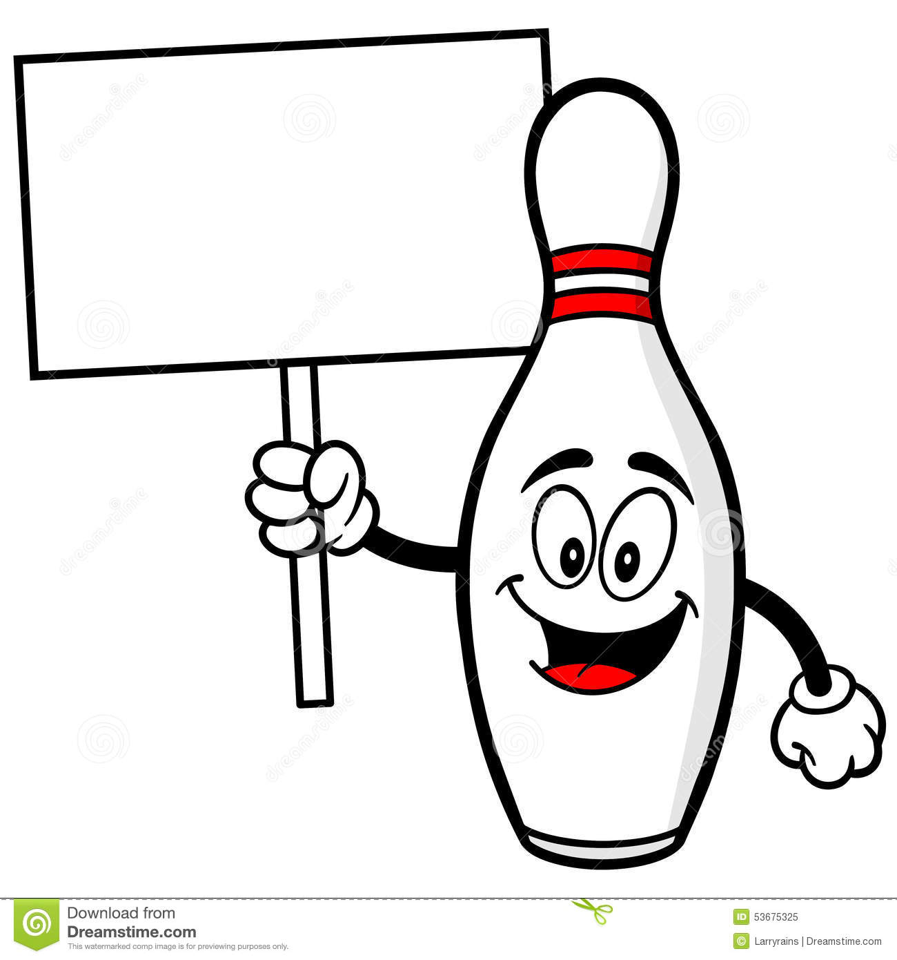 bowling pin with sign stock vector image 53675325 bowling ball clipart png bowling ball clipart google