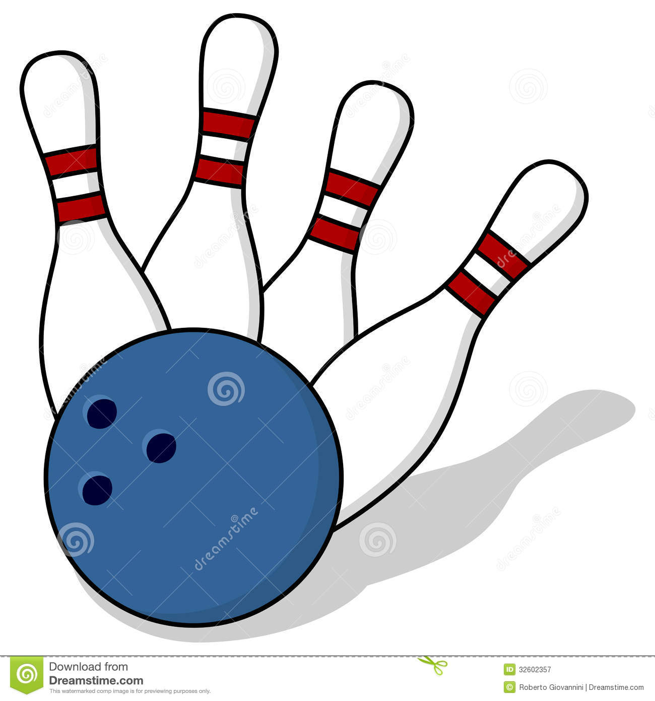 Bowling Pins And Ball Royalty Free Stock Photography - Image: 32602357