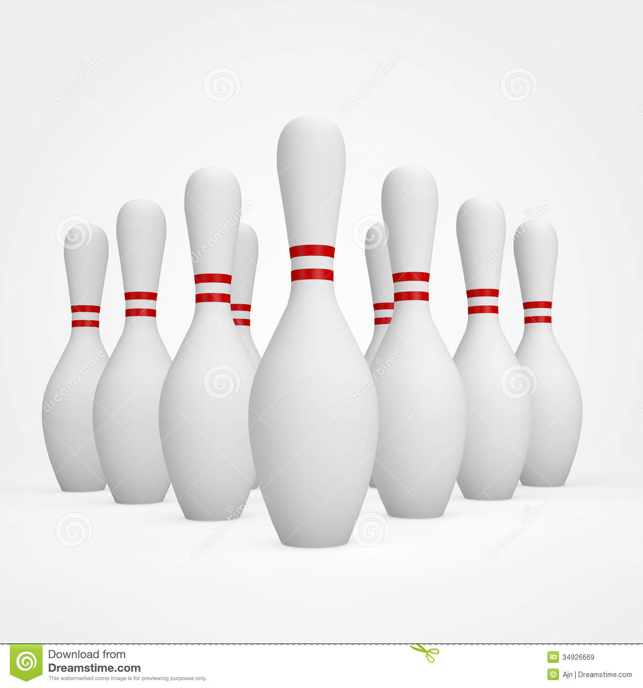 Bowling Pins Royalty Free Stock Images Image 34926669
