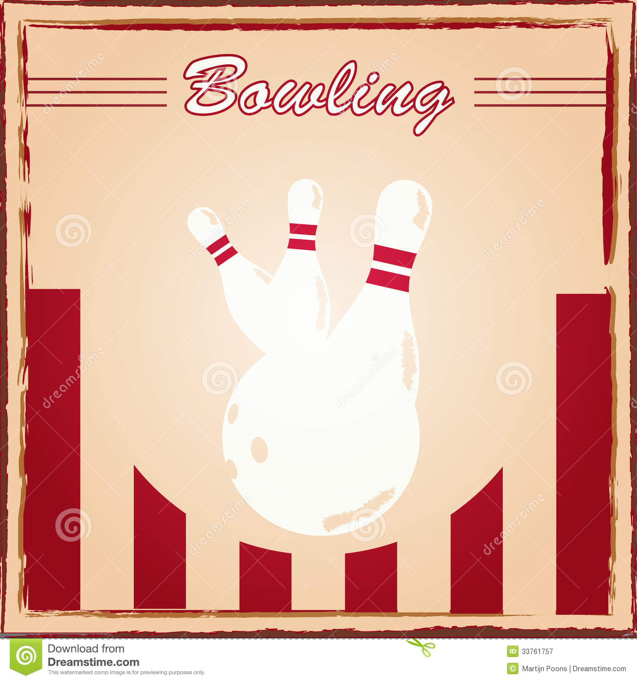 Bowling Poster Royalty Free Stock Photography - Image ...