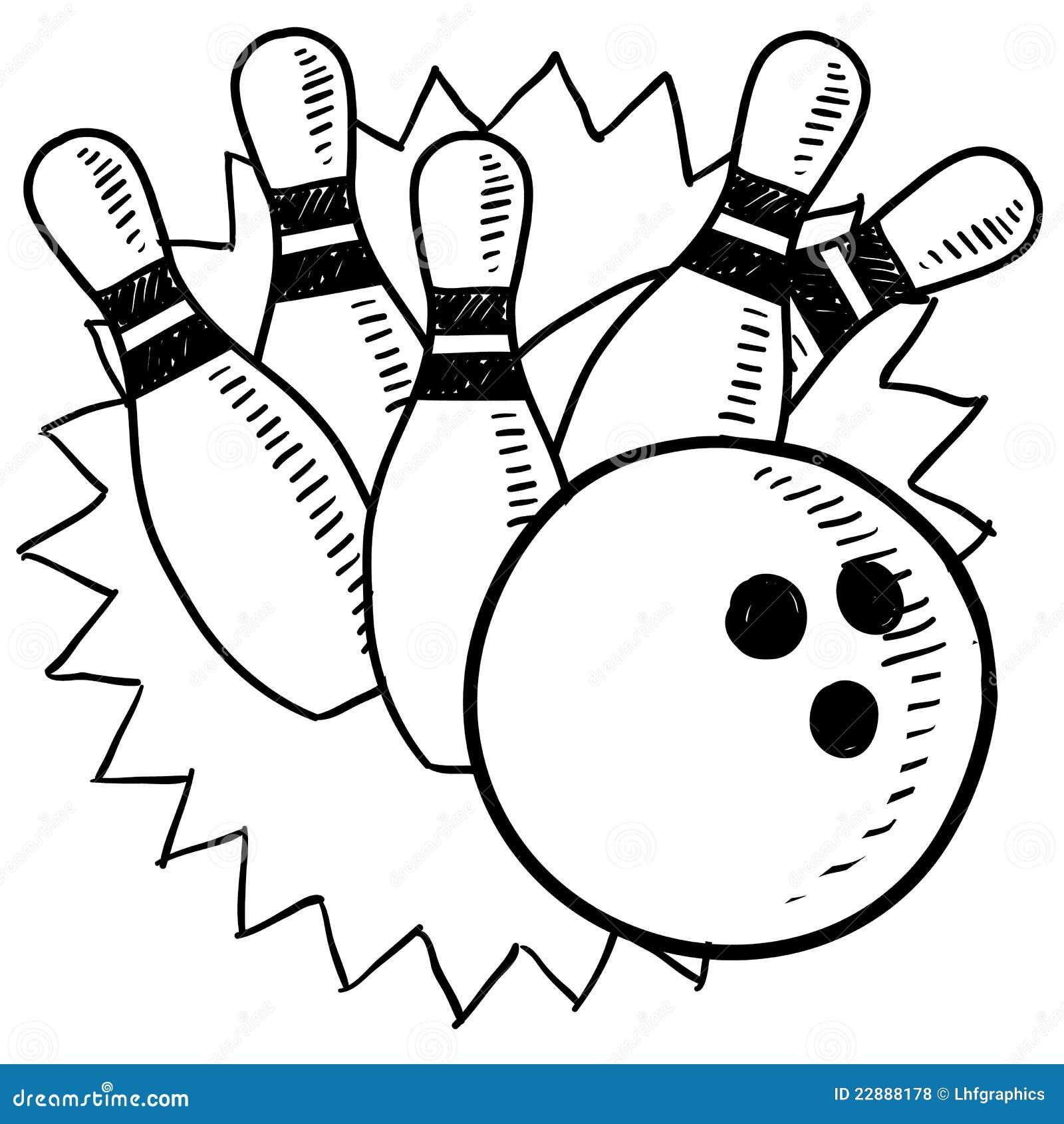 Bowling Sketch Stock Illustration Illustration Of Lane