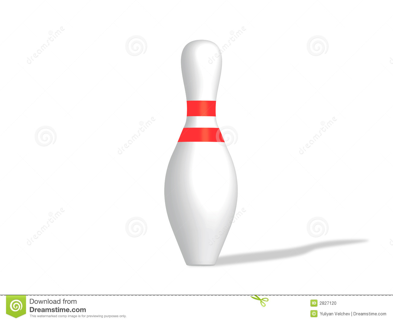 how to draw a bowling pin