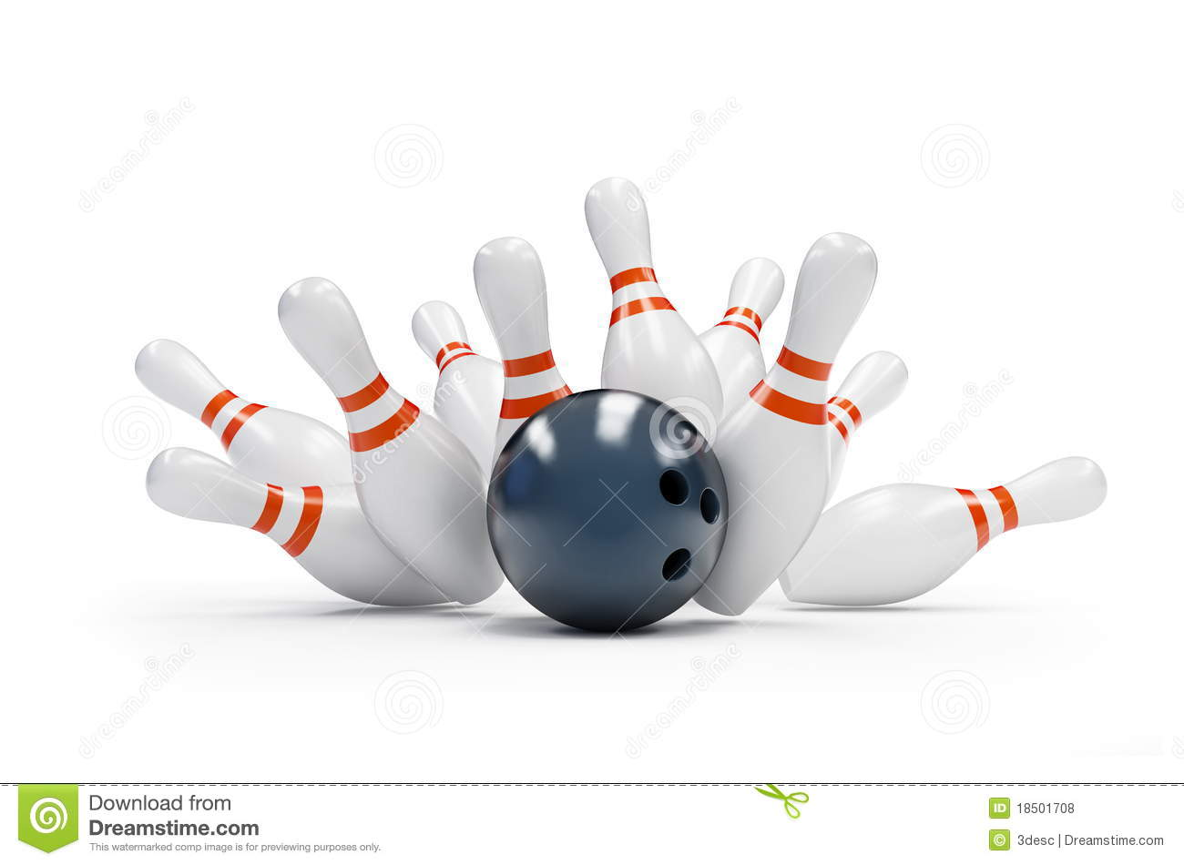 Bowling Strike Royalty Free Stock Photos - Image: 18501708