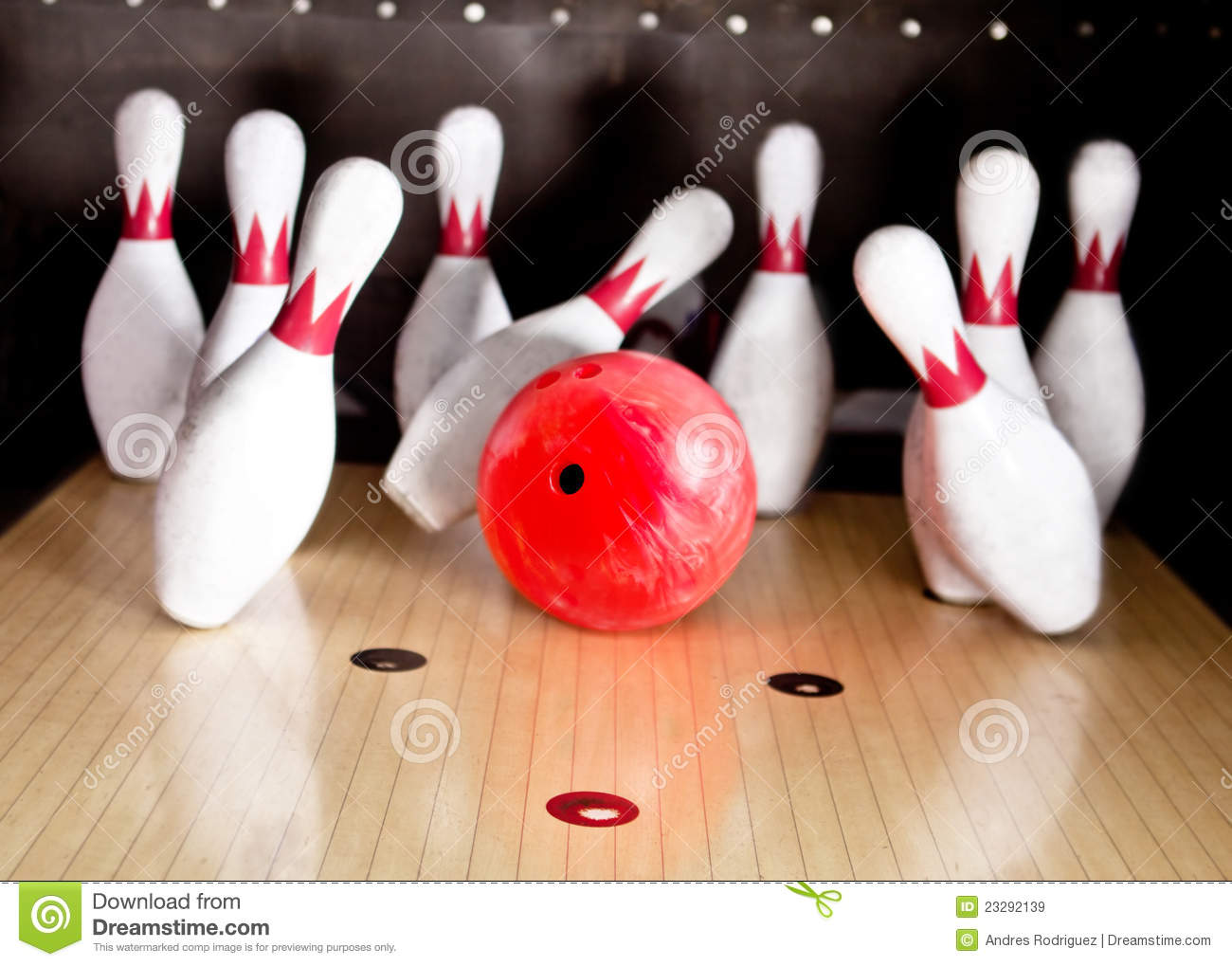 Bowling Strike Stock Image Image Of Leisure Wood