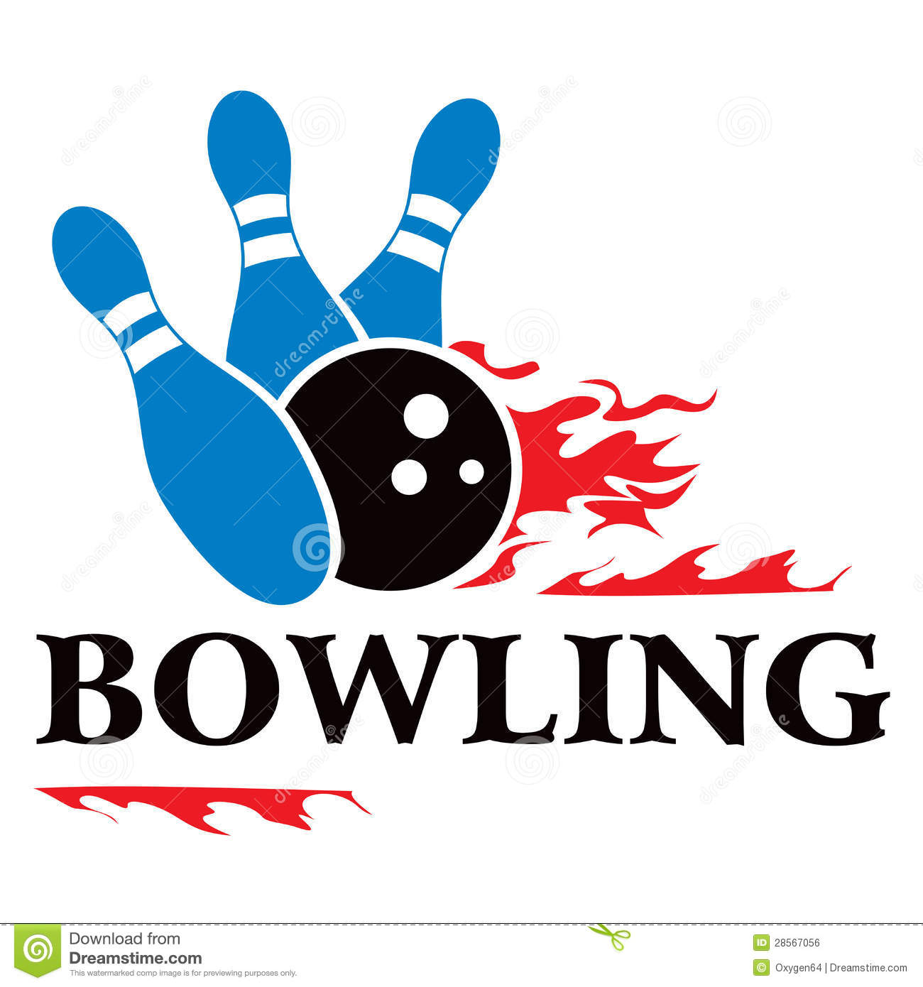 Bowling symbol stock vector image of isolated target for Logo clipart