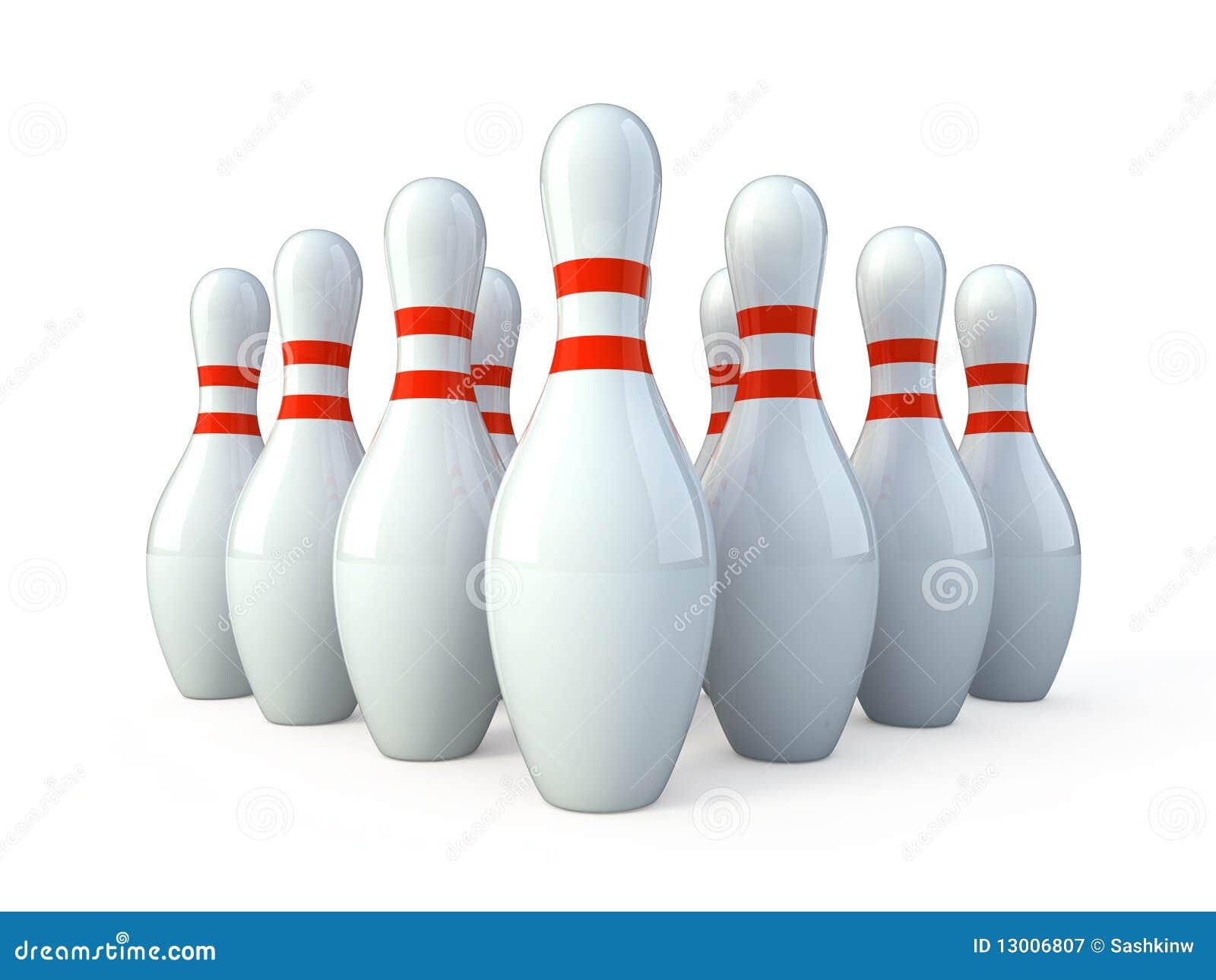 Bowling White Skittles Stock Illustration Illustration Of