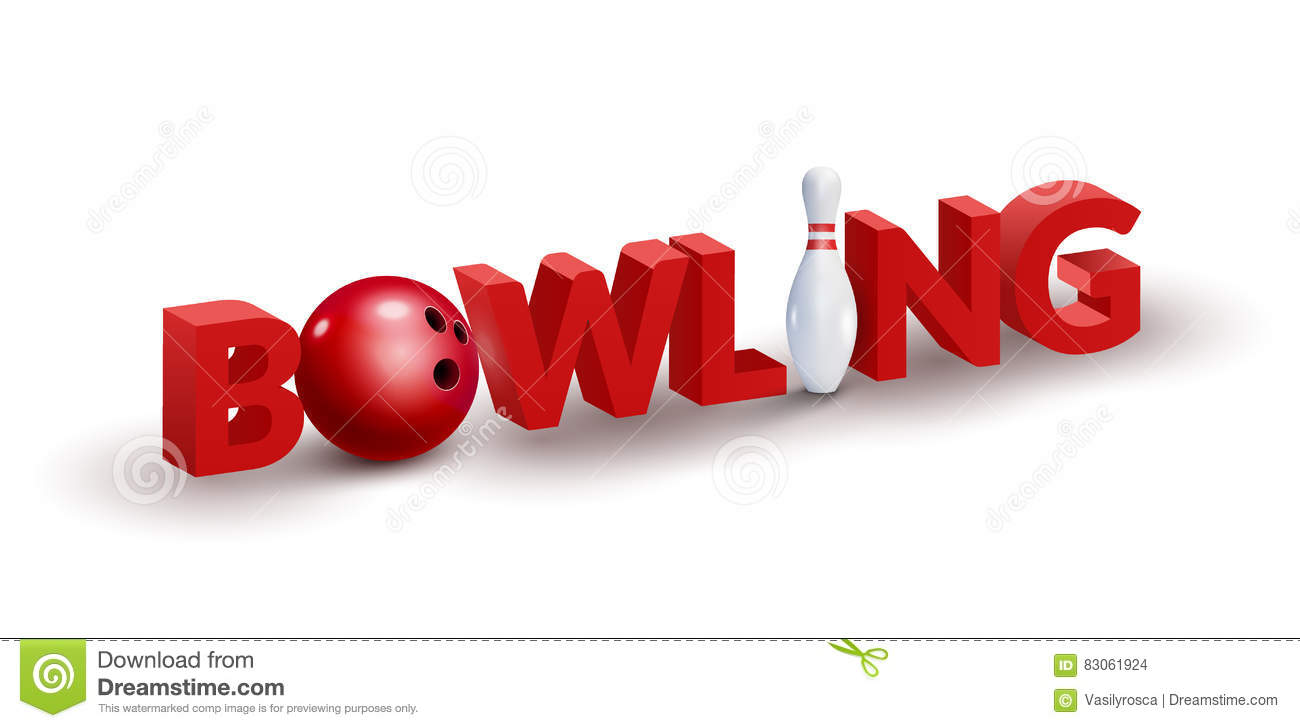 Bowling word 3d design template bowl and skittle 3d stock vector download bowling word 3d design template bowl and skittle 3d stock vector illustration of spiritdancerdesigns Image collections